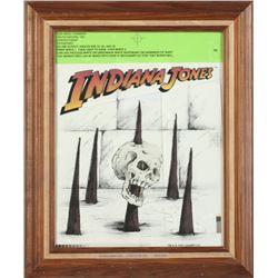 """Indiana Jones"" T-shirt Design Production Photostat & Printing Instructions."