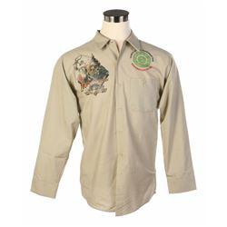Indiana Jones Adventure  Prototype Cast Member Shirt & Final Version.