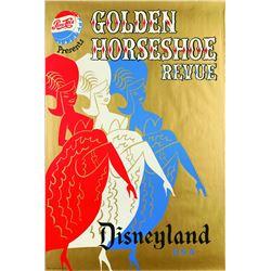 """Original Disneyland """"Golden Horseshoe Revue"""" Attraction Poster."""