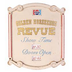 """""""Golden Horseshoe Revue"""" - """"Show Time"""" & """"Doors Open"""" Prop Sign."""