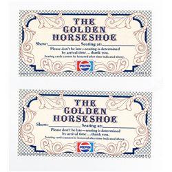 """Pair of (2) """"Golden Horseshoe Revue"""" Tickets."""