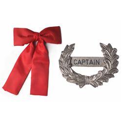 """Mark Twain"" Captain's Hat-Badge and Tie."