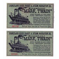 """Pair of (2) """"Mark Twain"""" Tickets."""