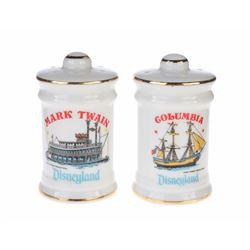 """Mark Twain"" and ""Columbia"" Salt and Pepper Shaker Set."