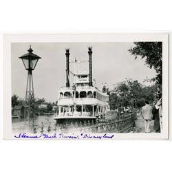 "Disneyland Postcard - ""Mark Twain""."