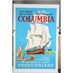 "Original Disneyland ""Sailing Ship Columbia"" Attraction Poster."