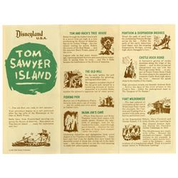 """Pair of (2) """"Explorer's Map of Tom Sawyer Island"""" Pamphlets."""