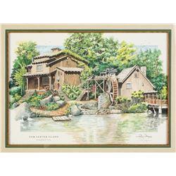 """""""Tom Sawyer Island"""" Limited Edition Print."""