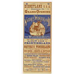 "Grand Opening of ""Nature's Wonderland"" Gate Flyer."