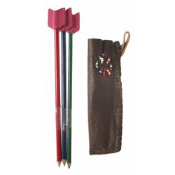Leather Quiver Pencil Holder with Pencil Arrows.