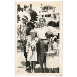 Disneyland Indian Village Postcard
