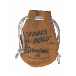 """Disneyland """"Fool's Gold"""" Leather Pouch."""