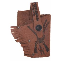 Davy Crockett Frontierland Miniature Leather Holster.
