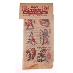 Davy Crockett Hot Iron Transfers.