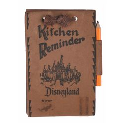 "Leather ""Kitchen Reminder"" - Sleeping Beauty Castle."