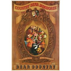 "Country Bear Jamboree ""Bear Country"" Disneyland Attraction Poster."