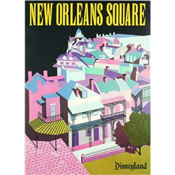"Disneyland ""New Orleans Square"" Near-Attraction Poster."