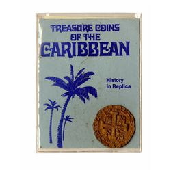 """Treasure Coins of the Caribbean"" Replica Gold Doubloon.."