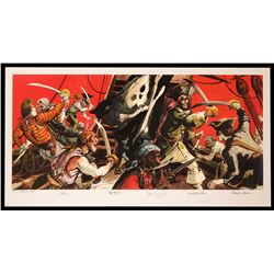 Multi-Signed  Pirates of the Caribbean  Limited Edition Lithograph.