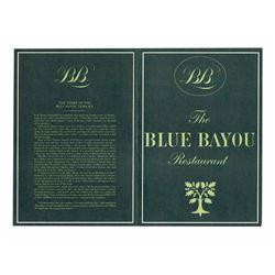 "Rare First Year ""Blue Bayou"" Restaurant Menu."