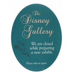 Disney Gallery  Closed Sign.