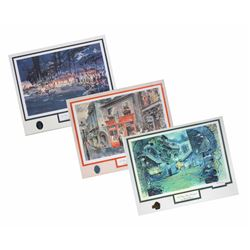 "Herb Ryman ""New Orleans Square"" Limited Edition Concept Art Set."