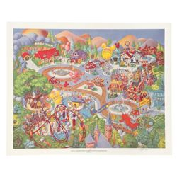 """Mickey's Toontown"" Art Print Exclusive for Longs Drug Stores."