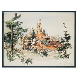 "Tony Baxter Signed ""Big Thunder Mountain Railroad"" Limited Edition Print."