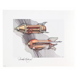 """The Transportation of Tomorrowland"" Signed (8) Lithograph Set."