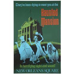 "Original Disneyland ""Haunted Mansion"" Attraction Poster."