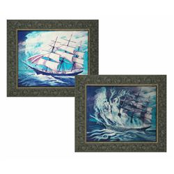 """""""Art of the Haunted Mansion"""" 30th Anniversary Event Lenticular Sailing Ship Portrait."""