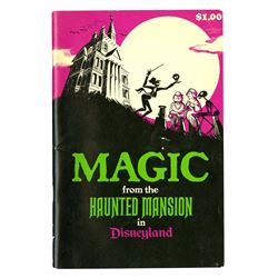 """""""Magic from the Haunted Mansion"""" Book Signed by Bob Gurr."""