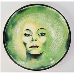 """""""Haunted Mansion Fantasy Dinner"""" One-of-a-Kind Madame Leota Plate."""