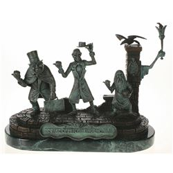 Rare Bronze Hitchhiking Ghosts Sculpture.