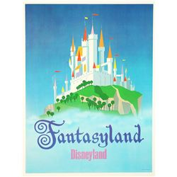 "Disneyland Fantasyland ""Near-Attraction"" Poster."