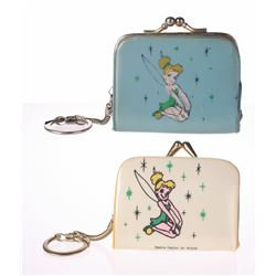 Pair of (2) Tinker Bell Clasping Coin Purse Keychains,