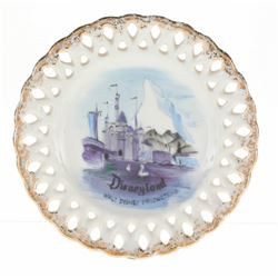 Disneyland Castle Plate Product Sample.