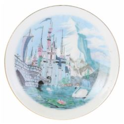 Small Sleeping Beauty Castle Disneyland Plate.