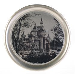 Sleeping Beauty Castle Tin Plate.