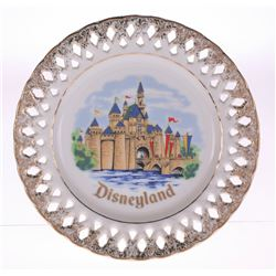 Disneyland Sleeping Beauty Castle Lace Plate.