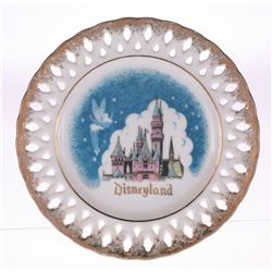 Disneyland Tinkerbell and Sleeping Beauty Castle Lace Plate.
