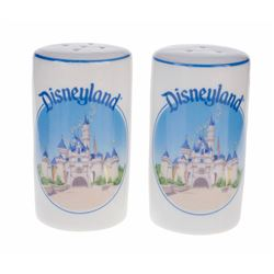 Sleeping Beauty Castle Salt and Pepper Shaker Set.