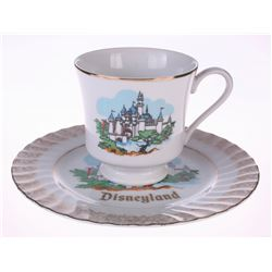 Sleeping Beauty Castle Cup and Saucer Set.