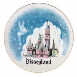 Small Disneyland Tinker Bell & Sleeping Beauty Castle Plate.
