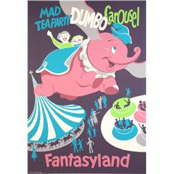 "Original Disneyland ""Fantasyland"" Attraction Poster."
