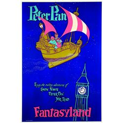 "Rare First-Pull ""Peter Pan"" Attraction Poster."