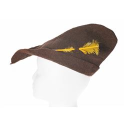 Felt Peter Pan Cap and Feather - Brown.