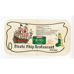 Chicken of the Sea Pirate Ship Restaurant  Placemat.