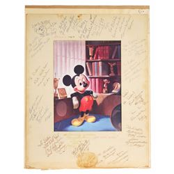 Mouseketeer Signed Mickey Mouse Dye Transfer Print.
