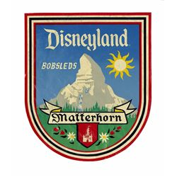 "Disneyland ""Matterhorn Bobsleds"" Ride Vehicle Decal."